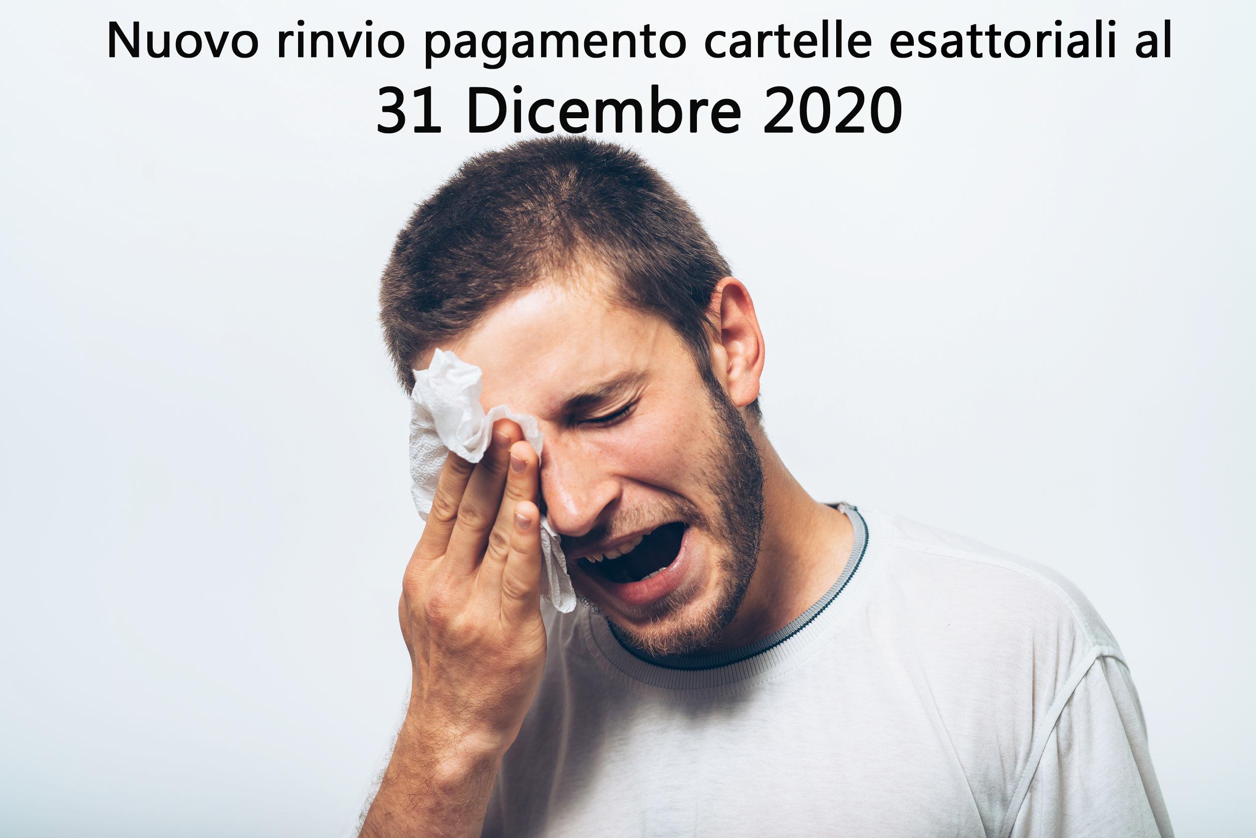 Proroga cartelle esattoriali al 31 Dicembre 2020
