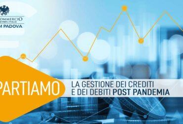 Con Ascom Padova, il 25 Maggio 2021 webinar: Ripartiamo, la gestione dei crediti e dei debiti post pandemia